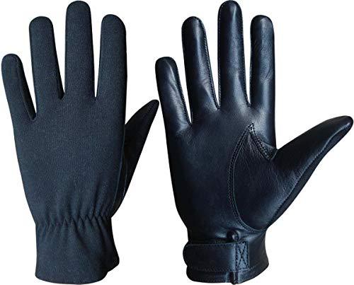 Nomex Handschuhe für Piloten Luftfahrt Auto Motorrad Go-Kart, Kurze Stulpe, Handschuhe schwarz schwarz