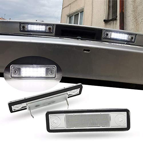 WXQYR 2 unids/Set lámpara de matrícula LED Blanca Trasera de Alto Brillo para Opel Astra F/G Corsa B Omega A/B Vectra B Zafira A