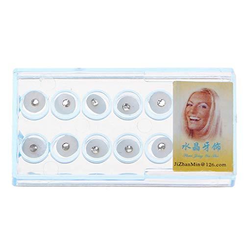 ZOOMY 10 Stück/Box 2mm Dental Bunte Kristall Zahn Schmuck Edelstein Dekor mit Box - Transparent