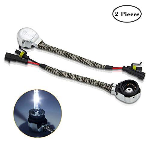 Preisvergleich Produktbild WinPower D2S / D2R OEM Xenon Lampe Ballast Adapter Kabel Kabelbaum Anschluss Buchse Draht zu HID Glühbirnen Konverter Halter,  1 Paar