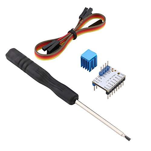 TMC2208 / TMC2100 / TMC2130 Motor paso a paso con disipador de calor con accesorio 1A Módulo de controlador de motor paso a paso de corriente máxima, controlador de(TMC2130)