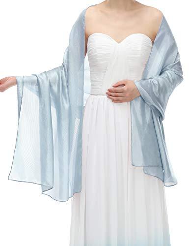 Bbonlinedress Damen Stola Schal für Kleider Blue