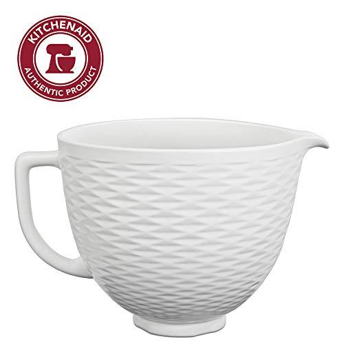 KitchenAid Accs Portable Appliance Stand Mixer Bowl, 5 quart, White Chocolate Textured Ceramic
