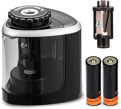 Pencil Sharpeners Electric Pencil Sharpener for Battery Powered Fast Sharpen Suitable for No product image