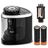 Pencil Sharpeners, Electric Pencil Sharpener for Battery-Powered, Fast Sharpen, Suitable for No.2/Colored...