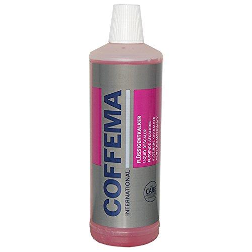 Coffema Flüssigentkalker für Kaffeevollautomaten - mit praktischem Farbindikator - für Kaffee- und Espressomaschinen, Pad- und Kapselmaschinen und Heißwasserboiler - 1 x 1000 ml