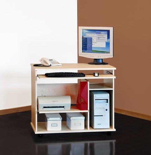 Möbeldesign Team 2000 Computertisch auf Rollen, in ahorn 1169-1