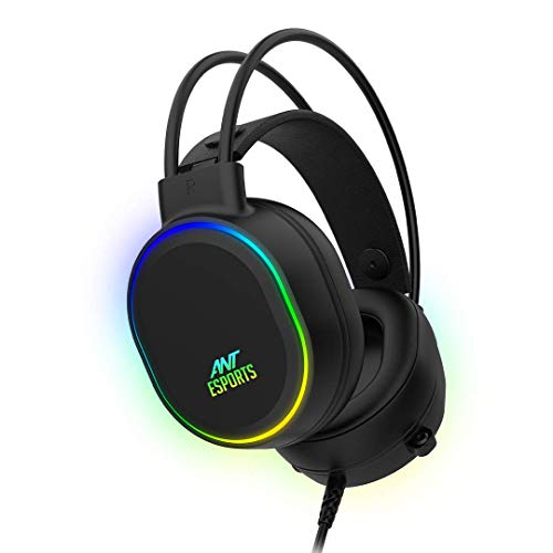 Ant Esports H1000 Pro RGB Gaming Headset for PC / PS4 / PS5 / Xbox One / Switch1 – Black
