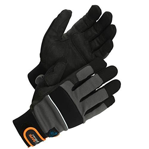 Worksafe M50 Arbeitshandschuhe Thermo, Winter, robust, atmungsaktiv, 1 Paar, Gr. 9=L, schwarz/gefüttert