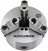 Accusize Industrial Tools 6''/160mm 2-Piece Reversible Jaws 3-Jaw Chuck, D1-4, Direct Mount, 1.575'' Center Hole, 0559-0101