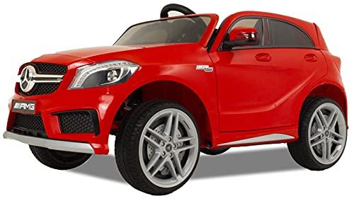 Mercedes A45 - Coche eléctrico para niños - Coche a batería - Batería Fuerte - Mando a Distancia - Rojo