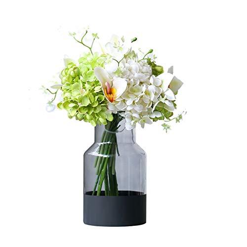 BORE Ramito Las Flores de Hortensia Flor Artificial de ramificación Conjunto for el hogar decoración del jardín Decorativo Simulación Seda Flores falsificación Flor Ramo (tamaño : 38cm)