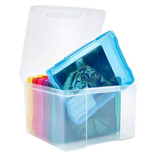 Office Mania Caja de Almacenamiento de Fotos con Etiquetas - Capacidad 600 Fotos