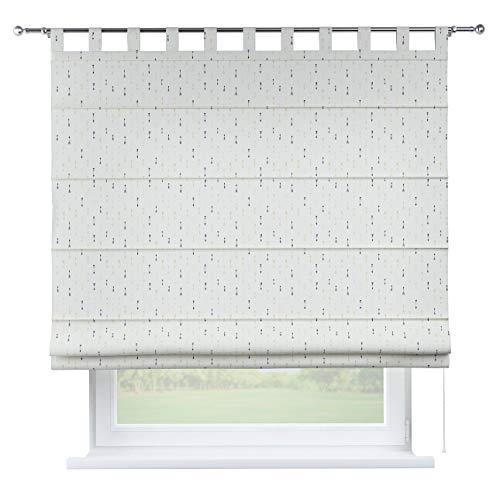 Dekoria Raffrollo Verona ohne Bohren Blickdicht Faltvorhang Raffgardine Wohnzimmer Schlafzimmer Kinderzimmer 130 × 170 cm weiß-schwarz-grau Raffrollos auf Maß maßanfertigung möglich