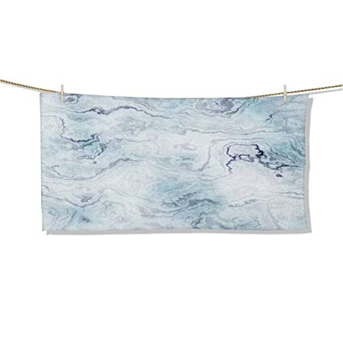 Art Towel Soft Pastel Toned Abstract Hazy Wavy Pattern with Ottoman Influences Image W64 x L32 3D Printed Travel Towel,Shower Beach Blanket Sand Free Towel