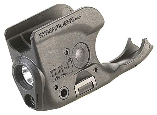 Streamlight 69279 TLR6 Tactical Pistol Mount Flashlight 100 Lumen with Integrated Red Aiming Laser for NonRail 1911 Black