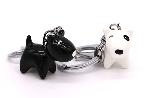 Cute Dog Couple Keychain for Women Funny Novelty Key Chain with Key Wrist Strap Wristlet Women Bag Purse Pendant Charm Pack of Two