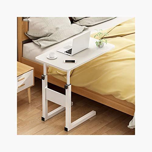 RTYU Mesa auxiliar ajustable para computadora portátil, para cama, sofá, hospital, lectura, mesa auxiliar (color: 60 x 30 titanio, blanco)