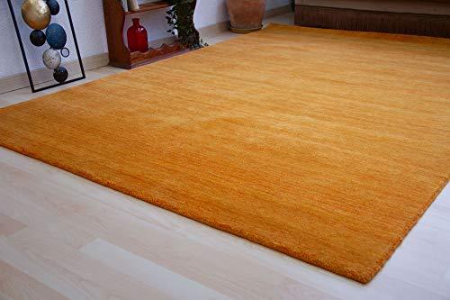 Steffensmeier Gabbeh Teppich Jaipur | Wolle, Terra, Größe: 120x180 cm Kurzflor Teppich für Wohnzimmer Handloom