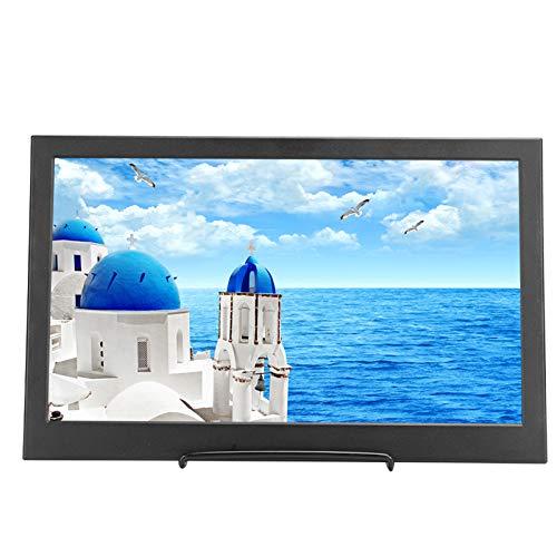 Goshyda Tragbarer Monitor, 14-Zoll-Ultra-Slim-Gehäuse 16: 9 1366 X 768 HD-TFT-Display mit Doppeltem Mini-HDMI für Raspberry PI-Serie / PS3 / PS4 / Xbox 360
