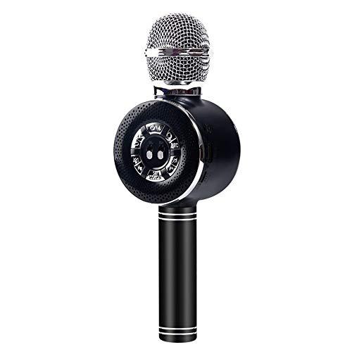 XFSE Telefon Mikrofon K Song-Live-Mikrofon Mikrofon Mikrofon Drahtlosen Bluetooth Stereo Integrated 25 * 3cm (Color : Black)