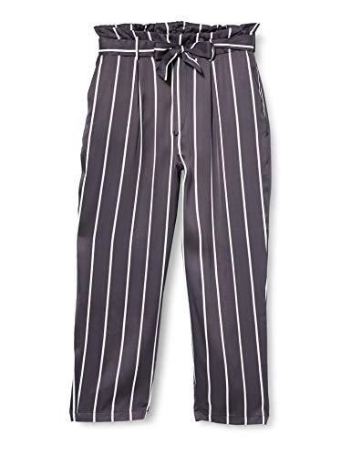 Herrlicher Comfy Satin Viskose Stripes Pantalones, Negro (Black 11), 42 (Talla del...
