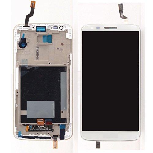LG Optimus G2 D802 D805 LCD Pantalla Táctil Digitalizador Vidrio Completa con Marco Reemplazo y Herramientas (Blanco)