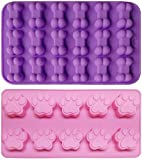2-Piece Puppy Dog Paw Baking pan, Dog Bone Cookie Cutter Set, Silicone Mold, Ice Cube Mold,...