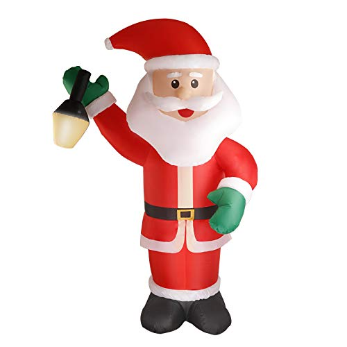Myriad Choices Christmas Inflatable Outdoor Santa Claus 7ft LED Giant Blow Up Santa Claus Inflatable Christmas Holiday Party Outdoor Lawn Yard Garden Decorations