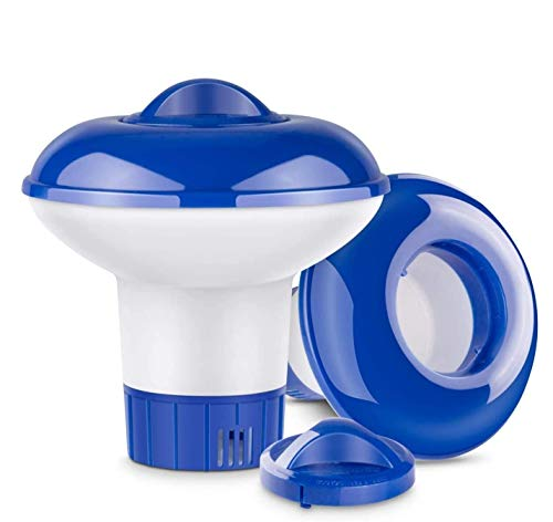 Dispensador de cloro flotante de ECHG, paquete de 2 unidades, dispensador de cloro ajustable, dispensador de productos químicos para piscinas, bañeras de hidromasaje o spa
