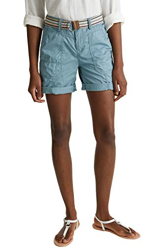ESPRIT Damen 040EE1C343 Shorts, 420/GREY Blue, 36