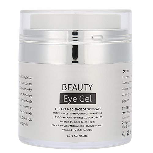 Collagen Eye Gel 50 ml Eye Cream Hyaluronic acid Eye Mask Under Eye Treatment for Under Around Eyes for Dark Circles, Wrinkles, Puffy Eyes, Fine Lines,Eye Moisturizing for Women Men