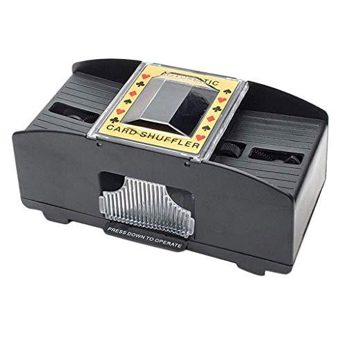perfeclan Automatischer Kartenmischgerät Kartenmischmaschine Poker 2 Decks Kartenmischer Karten-Mischer