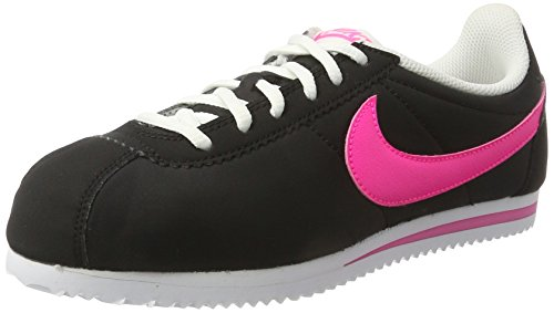 Nike Cortez Nylon (GS), Zapatillas de Running Mujer, Negro (Black/Pink Blast-White), 37 1/2