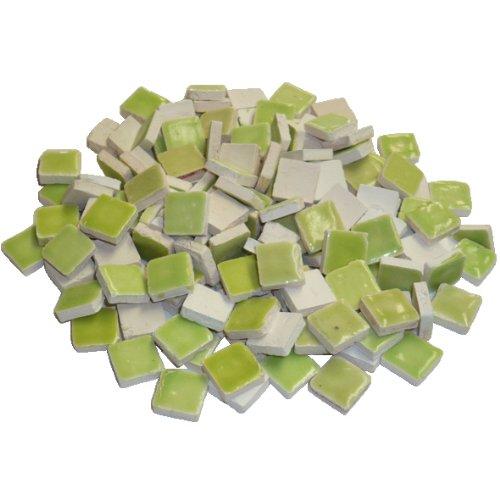 Unbekannt 229302810x 10x 3mm 70g 150-tlg. Keramik glasiert Mosaik-Fliesen, gelb/grün