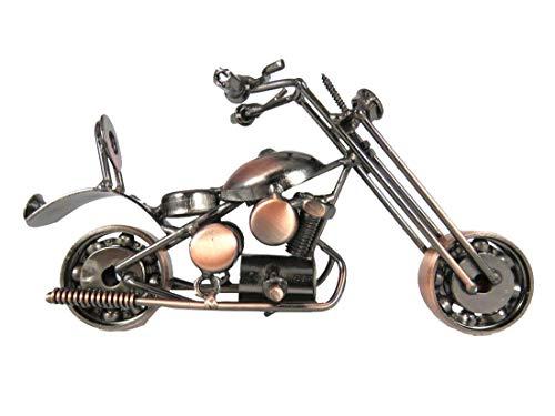 Der Eisenhans S05-A13 Modell Motorrad Chopper Metall Motorrad Sammlerstück handgefertigt Eisen Skulptur 16,5 cm x 6,5 cm x 10,5 cm