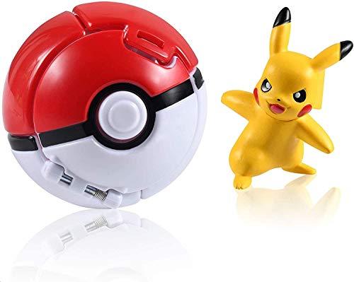 Pokemon Spielzeug, Pokémon Ball,Pokemon Parteien Action Figure Toy Set für Erwachsene und Kinder Erwachsene Party Feier Spaß Spielzeug Spiel Geschenk