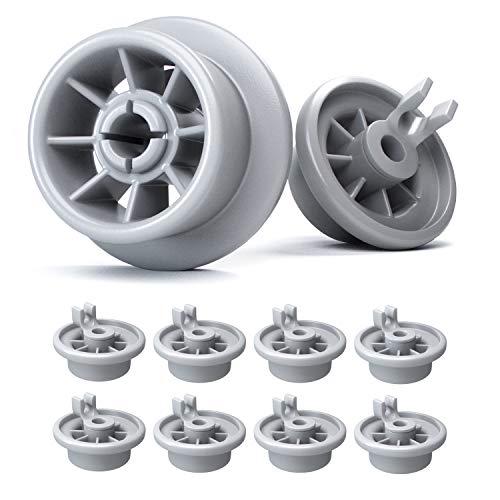 Set di rotelle lavastoviglie cestello Plemont [8 pezzi] rotelle cestello lavastoviglie Bosch, Indesit, Neff - universale adatte a molte lavastoviglie - ricambi e accessori