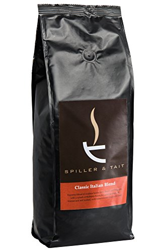 Spiller & Tait Classic Italian Blend - Strong Coffee Beans 1kg Bag - Roasted in Small Batches in the UK - Espresso Blend for All Coffee Machines