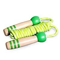 HIASU 縄跳び 子供用 なわとび ジャンピング ロープ 木製グリップ 長さ調整可能 幼児 体育祭 運動 ダイエット