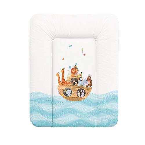 Ceba Baby Wickelauflage Wickelunterlage Wickeltischauflage 70x50 cm Abwaschbar für Mädchen und Junge - Arka 70x50