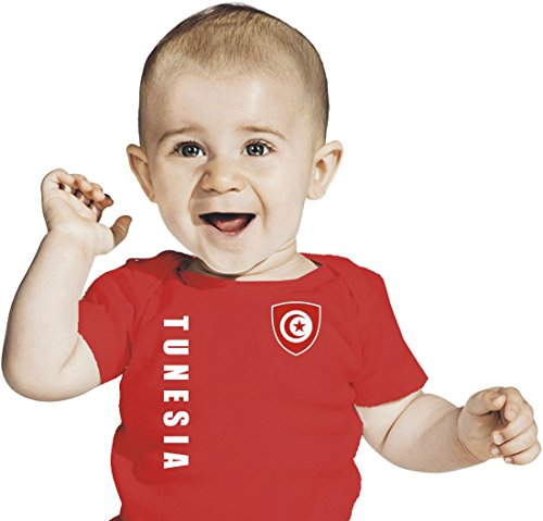 Tunisie maillot Baby T-Shirt – Look – Rouge Taille 68–86 - Rouge -