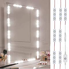 ☞Perfect for Diy Glam Hollywood Style Vanity - If you have always wanted a Hollywood style vanity but not enough to spend hundreds of dollars on one. These led vanity mirror lights give you that look for next to nothing. ☞Easy & Stress-free Installat...