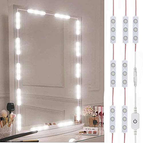 Led Vanity Mirror Lights, Hollywood Style Vanity Make Up Light, 10ft Ultra Bright White LED,...