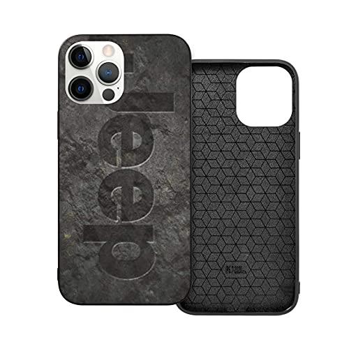 Compatible con iPhone 12/11 Pro MAX 12 Mini SE X/XS MAX XR 8 7 6 6s Plus Funda Jeep Rock Logo Black Cajas del Teléfono Cover