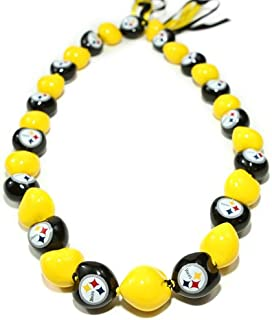 NFL Pittsburgh Steelers Go Nuts Kukui Nut Lei Necklace
