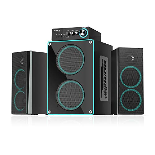 ineo Wooden 2.1 Gaming/PC Speakers with Subwoofers and Individual Control Box (W403)