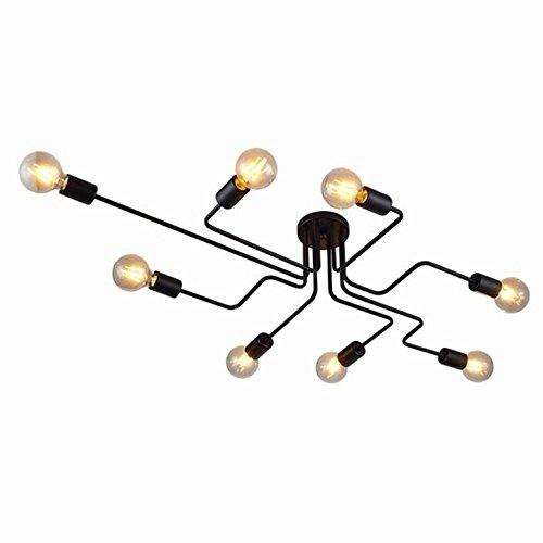 Lingkai Schwarz Metall Hängeleuchte Industrielle Pendelleuchte Eisen Kunst Esszimmer Deckenleuchte industrielle Deckenleuchte Personalisierte Kronleuchter