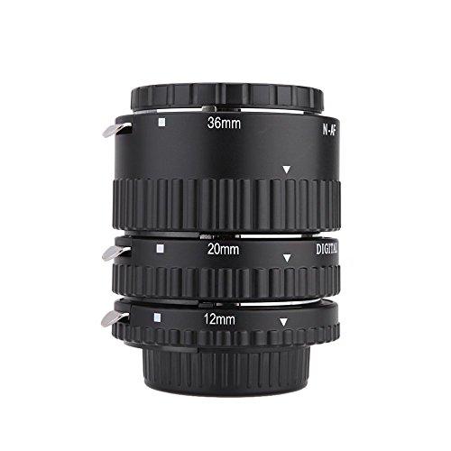 Mcoplus Metal de Soporte de plástico Tubo de extensión automático Macro para Nikon...