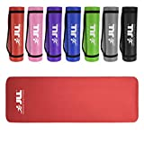 JLL® Yoga Mat Extra Thick 10mm/15mm Non-Slip Pilates Workout Exercise Mat available in Black/Blue/Purple/Pink/Green/Red. Also Ideal as Camping Mat.